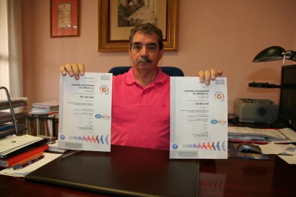 Limpieza CAL obtiene las certificaciones de calidad y de medio ambiente